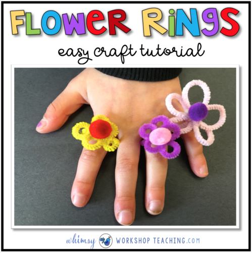 Pipe Cleaner Flower Ring tutorial