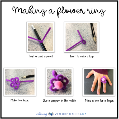 Step by step directions to make a flower ring
