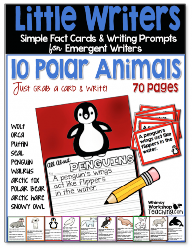 Little Writers Polar Animals set will allow you to easily differentiate your writing center.