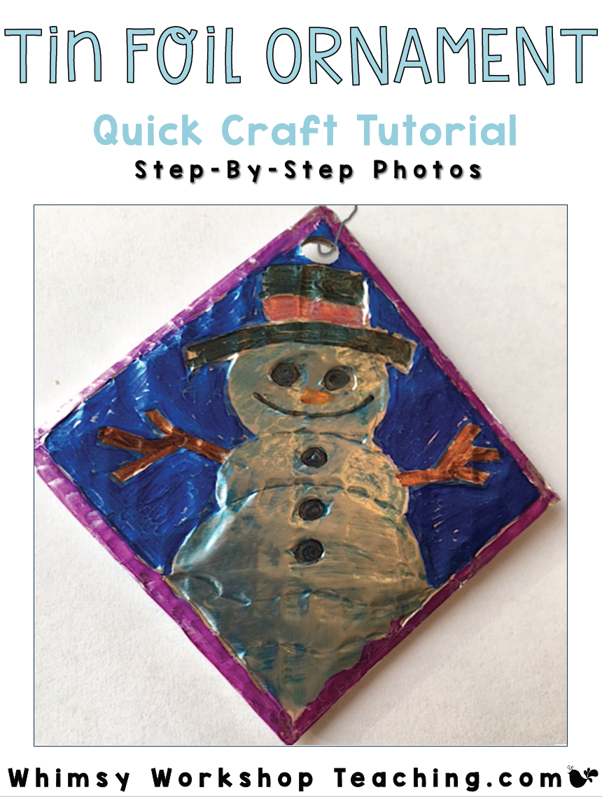 Quick Christmas craft tutorial using tin foil, complete DIY tutorial download steps