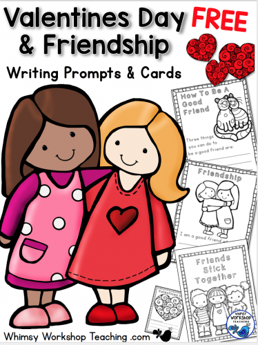Free set of cute Friendship Writing Prompts to use for Valentines Day or any day