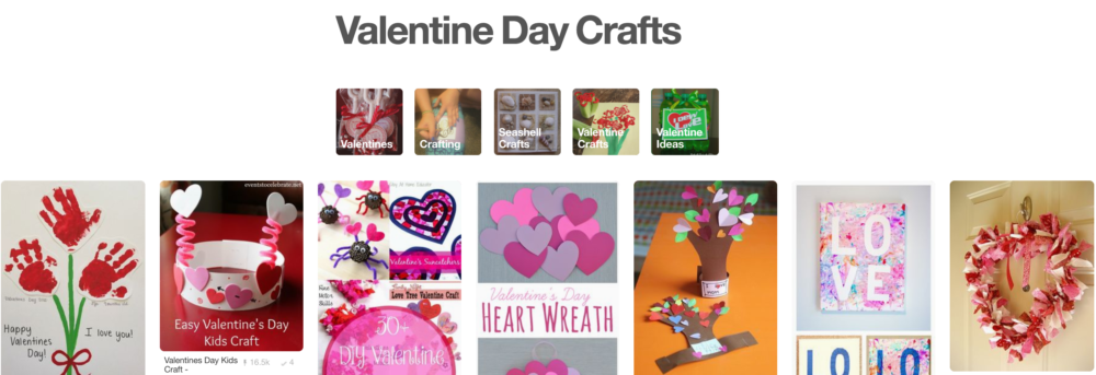 Tons of Valentines Day crafts on Pinterest!