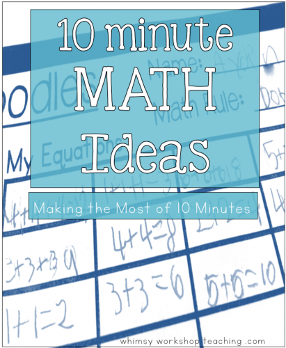 10 minute math ideas