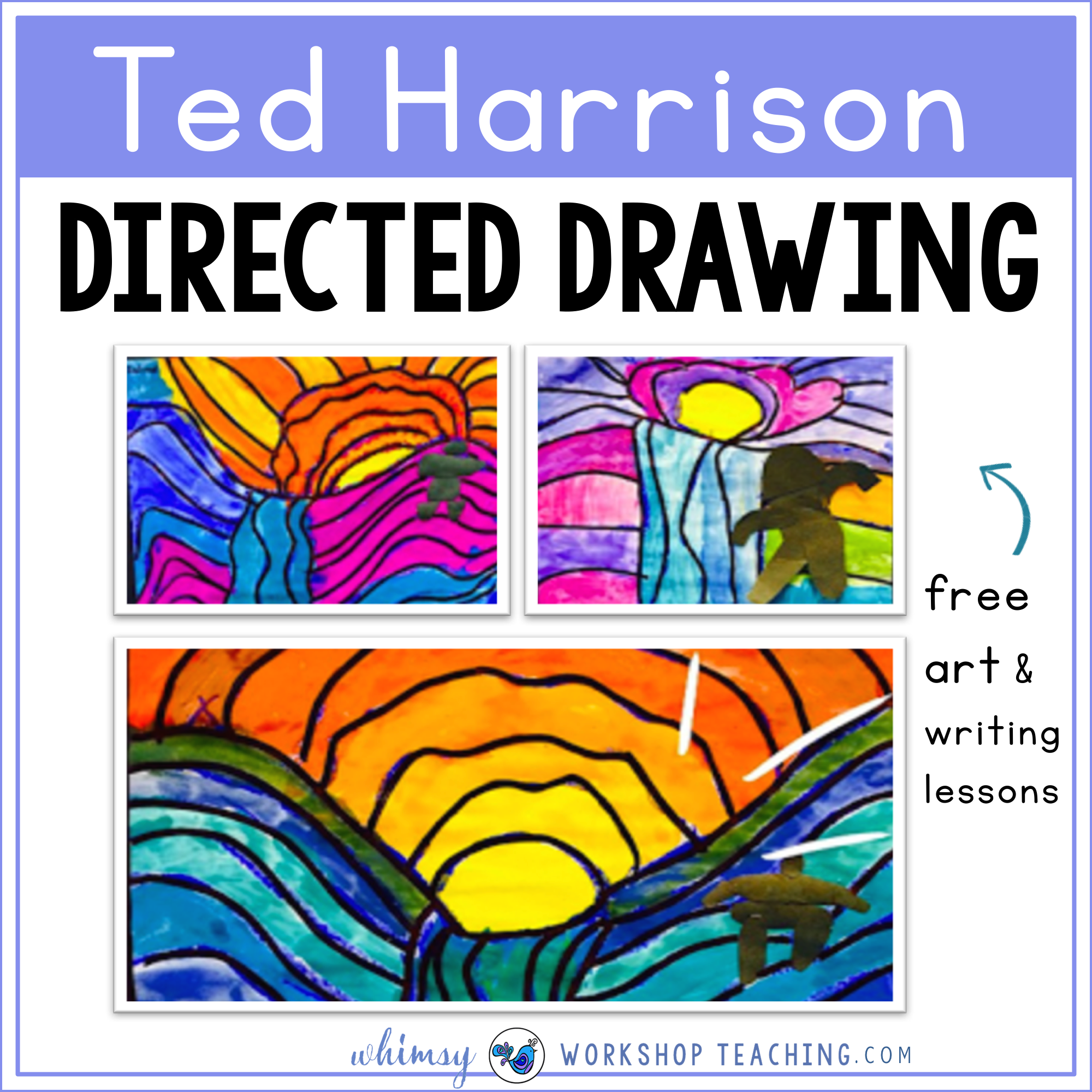 Ted Harrison directed drawing including a teacher read aloud script to guide the discussion