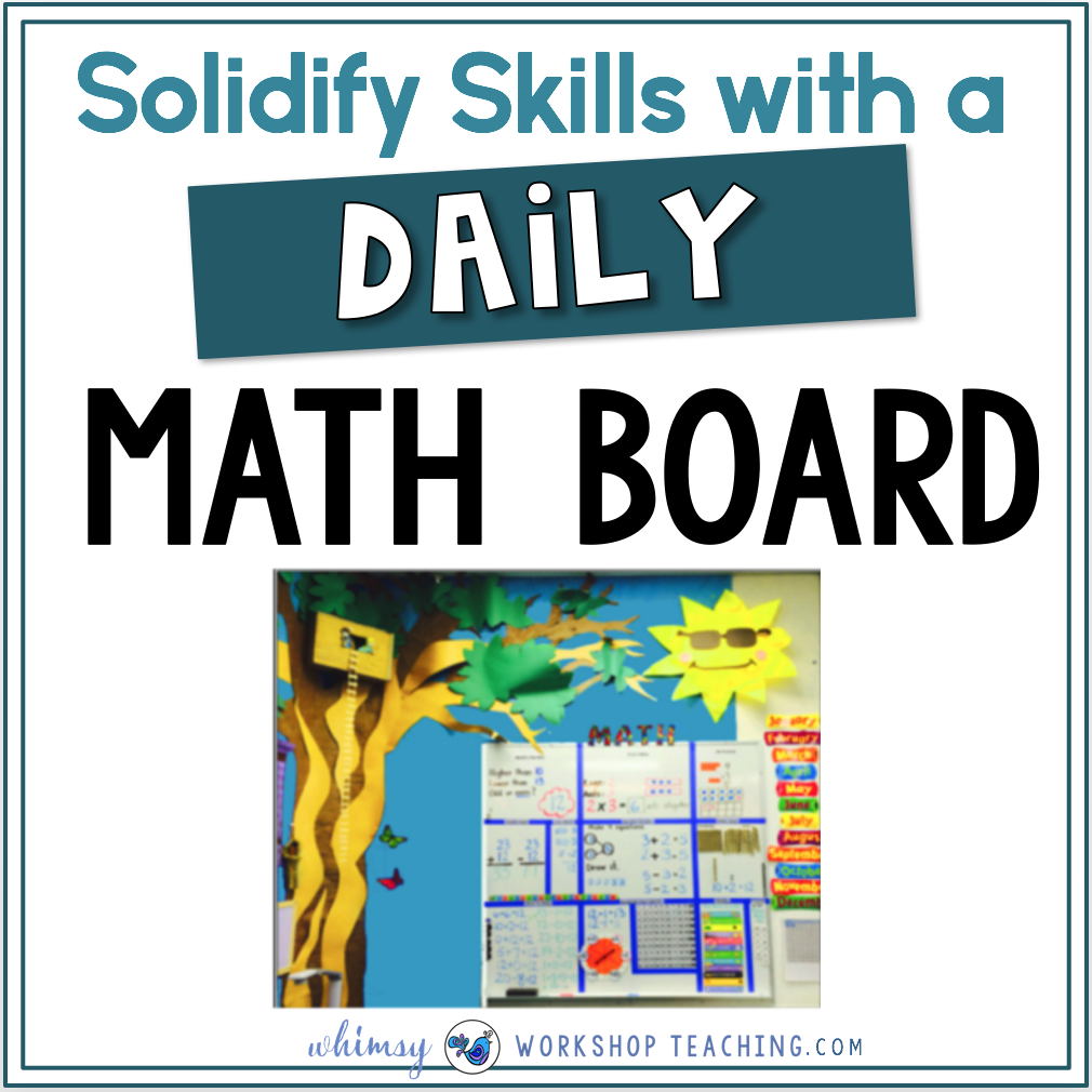 Watch your student's math sense improve with practice on a daily math board. This is similar to kindergarten calendar routines, but with older grades, and includes a written component each day!