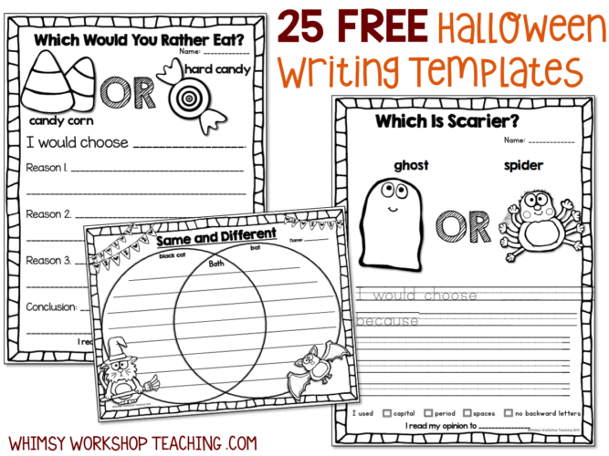 25 FREE Halloween writing templates
