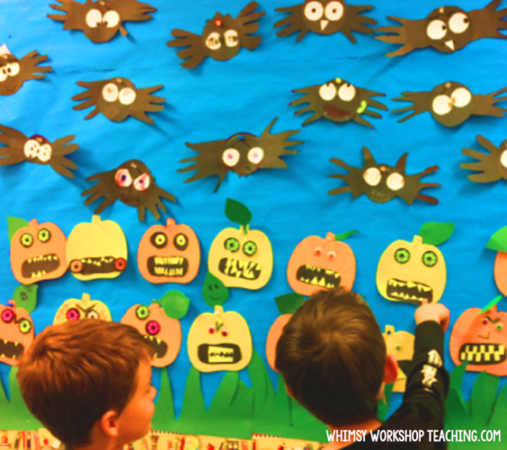 Cute and easy ideas for Halloween art and writing