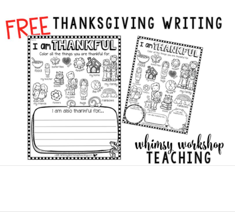 Writing about thankfulness