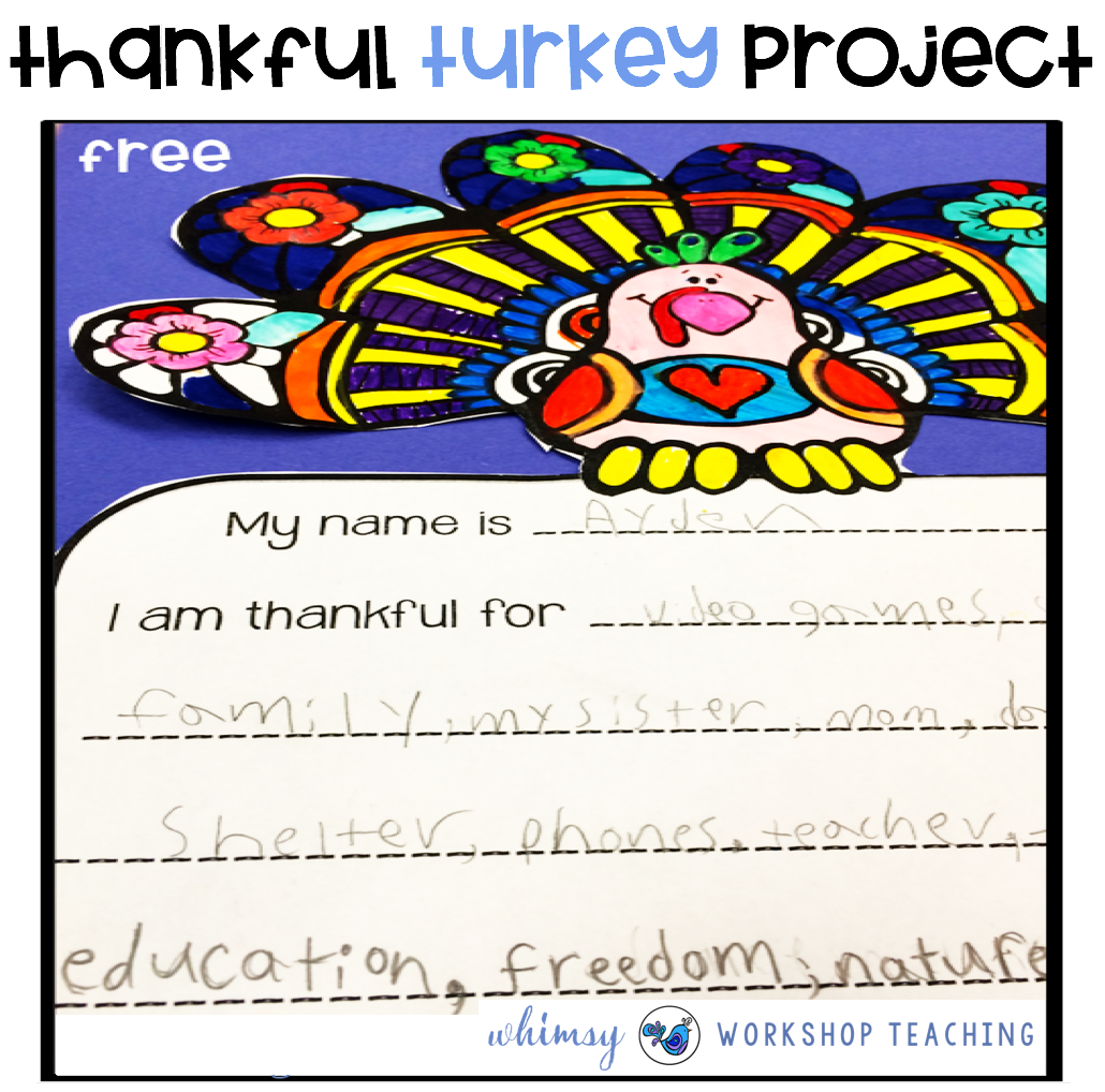 Thankfulness writing project