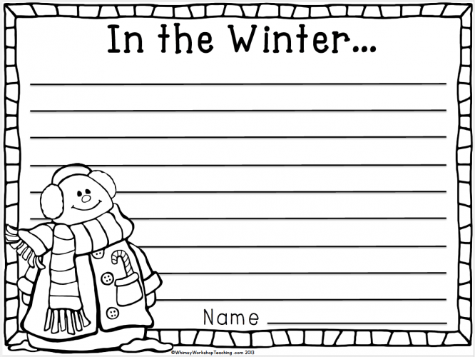 Free differentiated Santa letters to use with students, includes winter writing templates