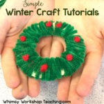 Christmas Trees and Wreath crafts tutorial