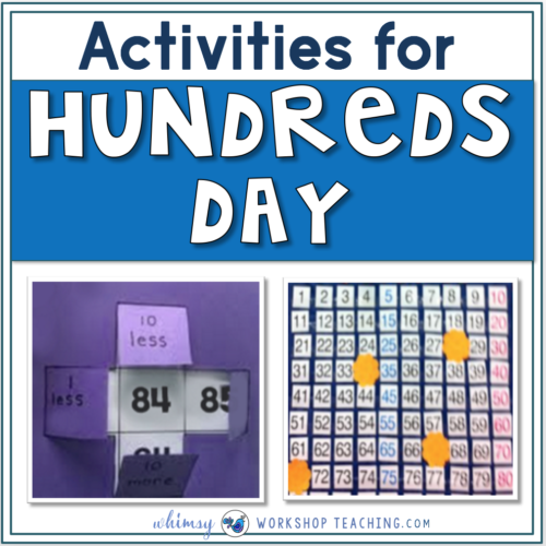 Activities and Ideas for hundred's day