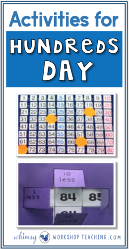 So many ways to celebrate 100's day using your hundred's chart for games, using large paper for collaborative charts and posters, and using printables to solidify concepts and stretch thinking for math sense!