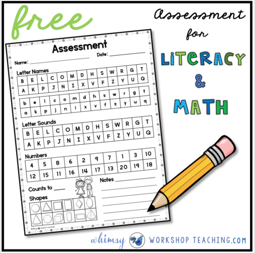 Free assessment pages