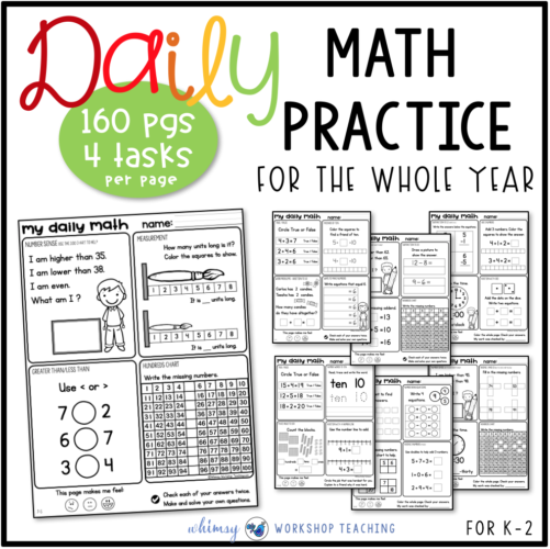 bundle of daily math practice and review for each month