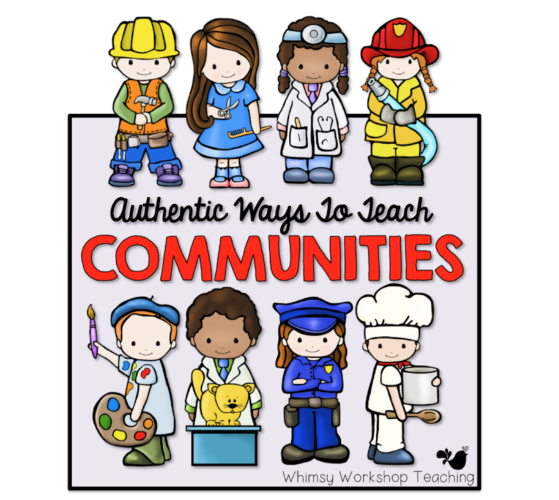 Teaching about communities with Busytown. Each student chooses a role to play in our town, and then parents come to visit.