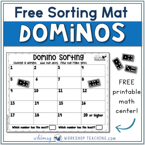 FREE domino sorting mats with paper dominos included