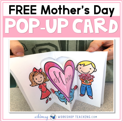 FREE pop-up card for mother's day