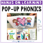 Hands on learning with pop up phonics
