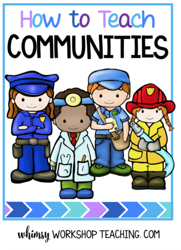 Teach about communities in an authentic way by creating your own little Busy Town! Lots of ideas in this post!