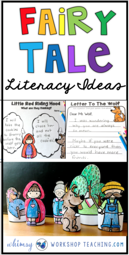 Fairy Tales are my favorite vehicle for teaching literacy! We made these cute little stand up figures to use with our partner plays and letters to characters - so fun!