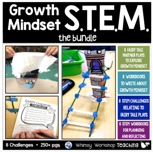 STEM challenges for 8 fairy tales with workbooks and partner plays