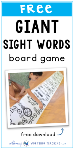Students love to practice their sight words with this giant printable game board - just glue the pages end to end and they are ready to play and read! (FREE download)