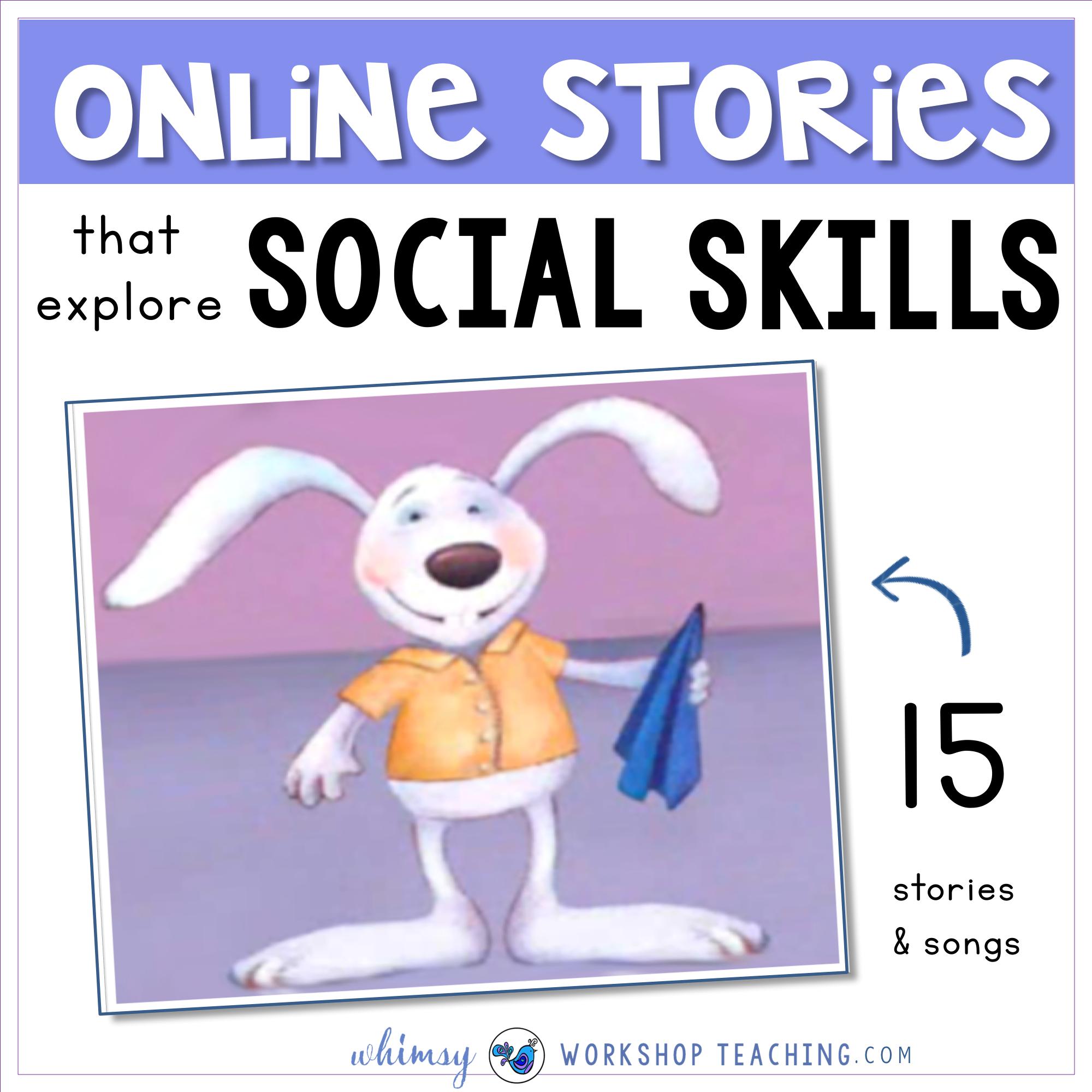 online stories that explore social skills