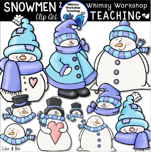 Cute collection of winter snowmen clip art!
