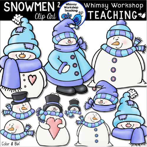 Cute collection of winter snowmen clip art!