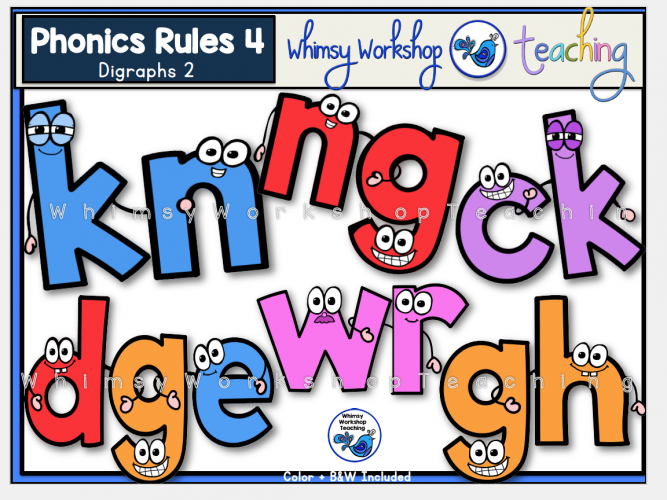 Phonics Rules 4 Digraphs 2