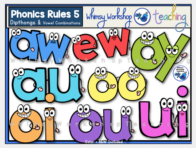 Phonics Rules 5 Dipthongs
