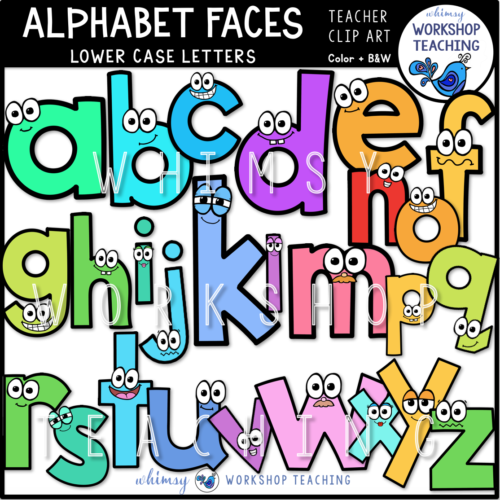 Alphabet Faces Lower Case WWT