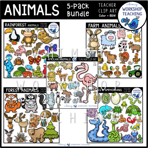 Animals Clip Art Bundle 5 Pack