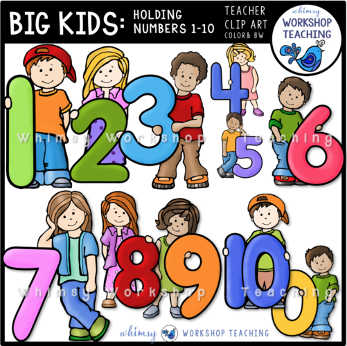 Big Kids Numbers 1 to 10