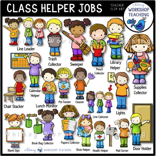 Class Helper Jobs Clip Art WWT