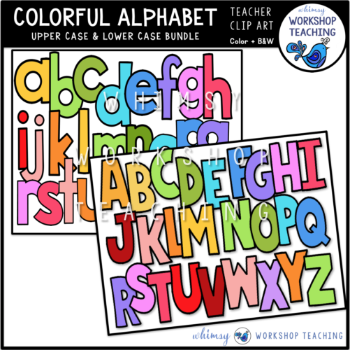 Colorful Alphabet Upper and Lower Case WWT
