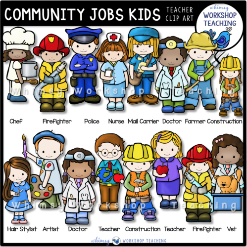 Community Jobs Kids Clip Art WWT