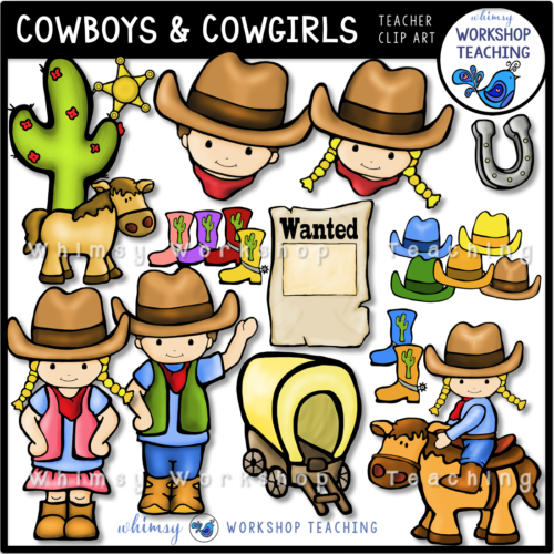 Cowboys and Cowgirls Clip Art WWT