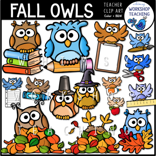 Fall Owls Clip Art WWT