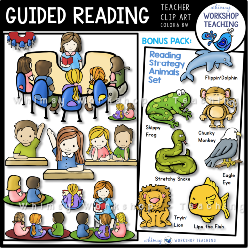 Guided Reading Bonus Pack Clip Art