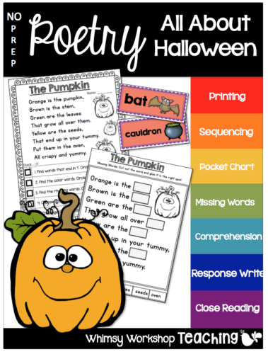 Halloween no prep poetry with 6 poems and 12 activities each