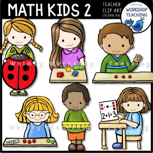 Math Kids Clipart