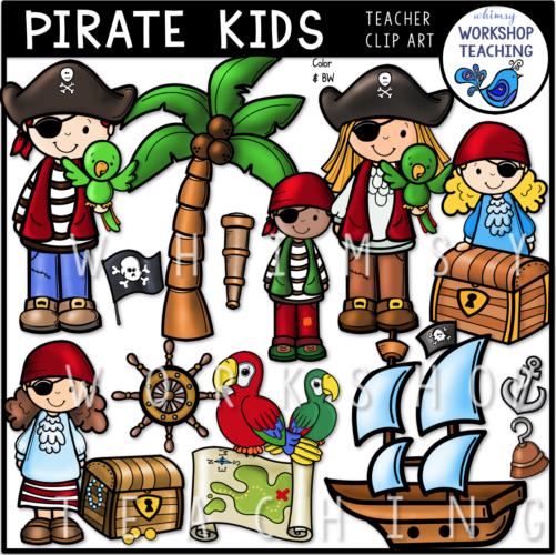 Pirate Kids Clip Art WWT