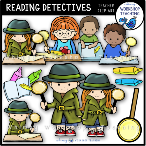 Reading Detectives Clip Art WWT