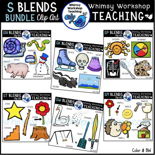 S Blends Bundle Clip Art WWT