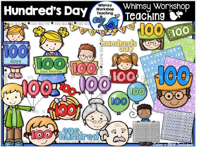 100s Day Clip Art