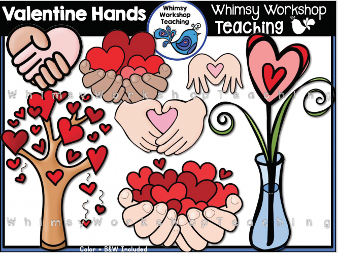 Hearts In Hands Clip Art