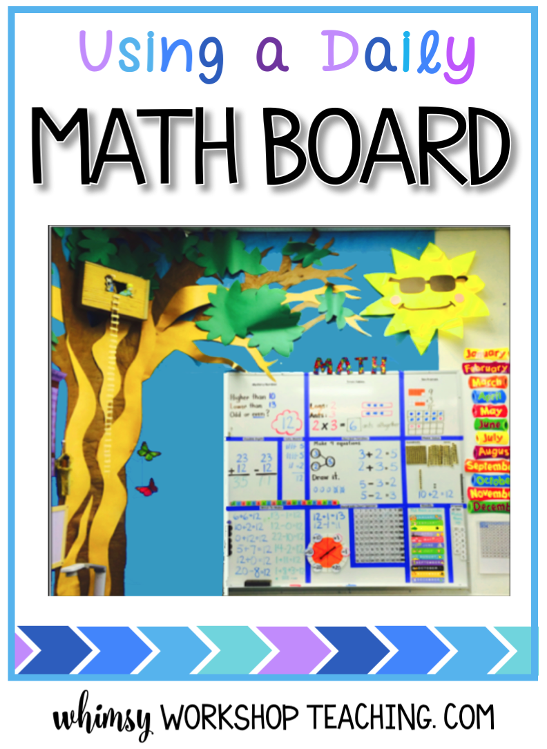 Use a Daily Math Board to reinforce and practice core math skills a little bit each day!