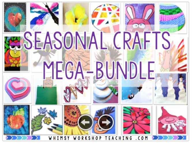 Your crafts for each month of the year are DONE with this huge set of 70+ easy craft projects - all with step by step picture directions, a simple supply list and seasonal writing prompts!